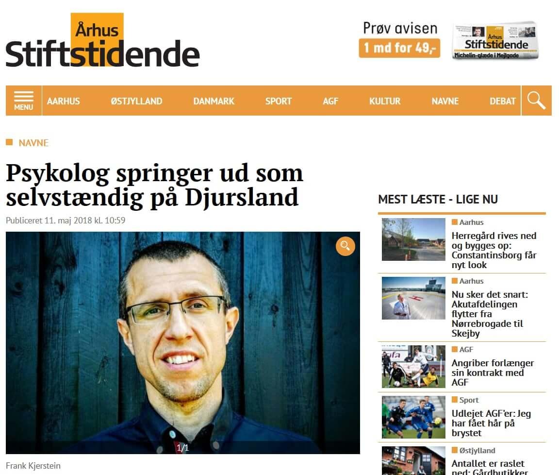 Aarhus Stiftstidende - artikel om Djursland-psykologen