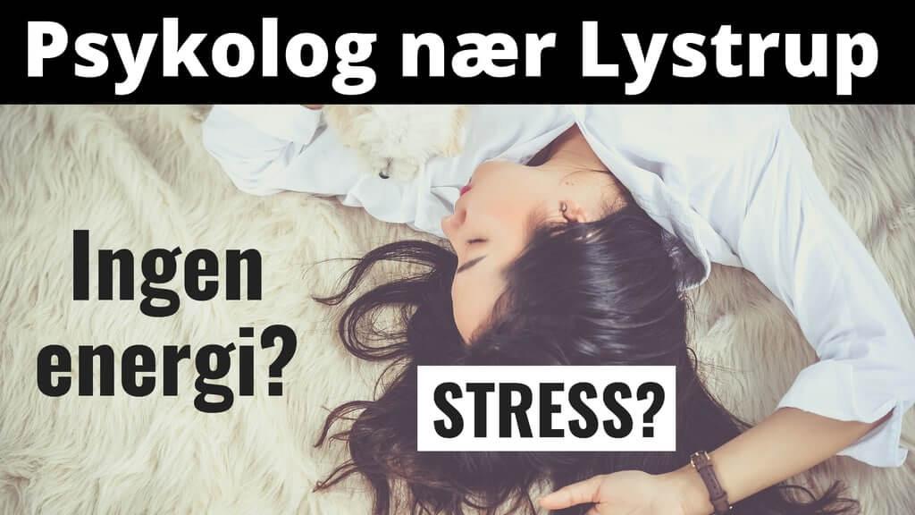 Psykolog nær Lystrup. Uden ventetid. Psykolog-hjælp til stress, angst, depression og kriser.