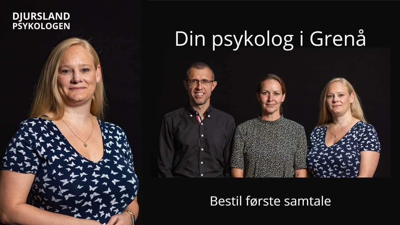 Erfaren psykolog i Grenaa - uden ventetid. Tlf. 89 88 44 45. Psykolog-hjælp til stress, angst, depression og kriser.
